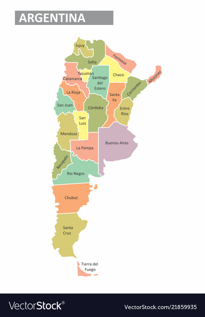 Argentina colorful map