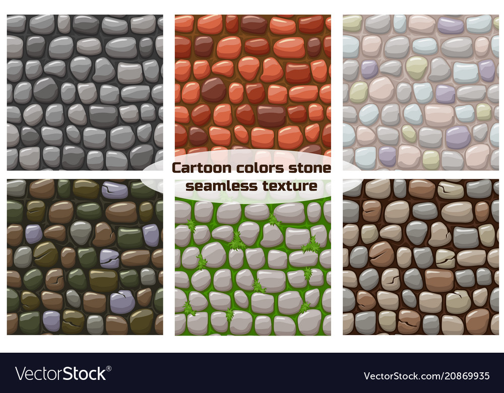 Cartoon stone texture seamless background