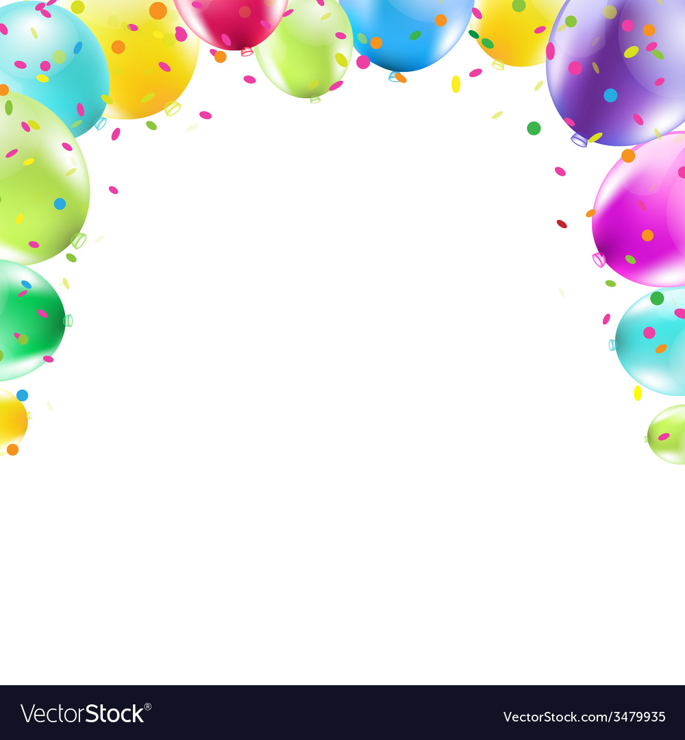 Color Balloons Frame