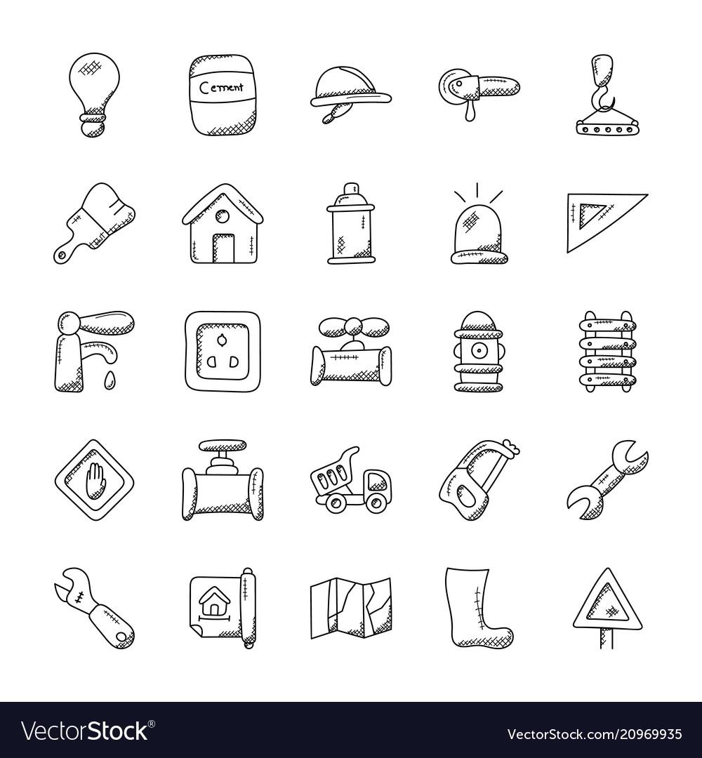 Construction doodles pack