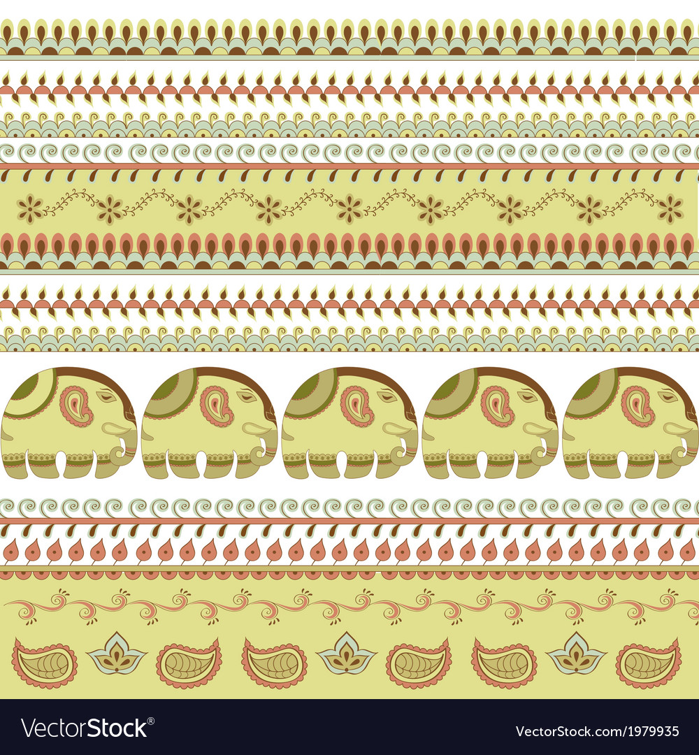 Indian pattern elephant