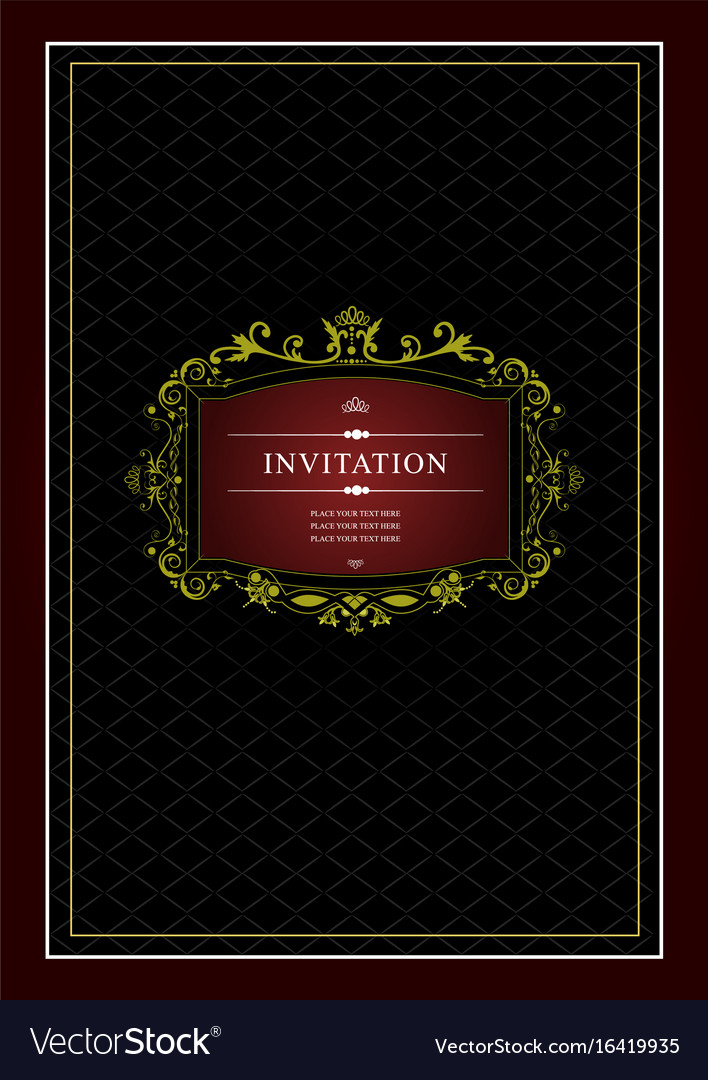 Invitation vintage card wedding or valentines day