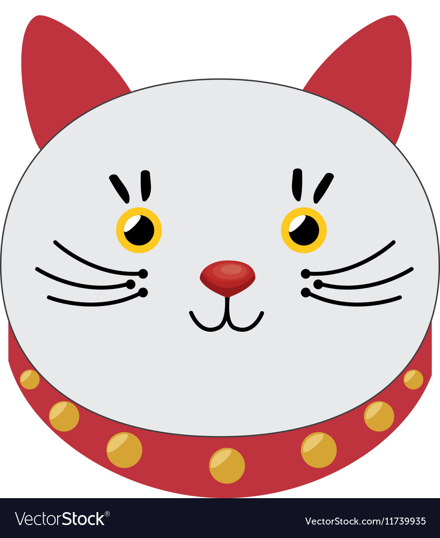 Lucky cat hold coin japan icon