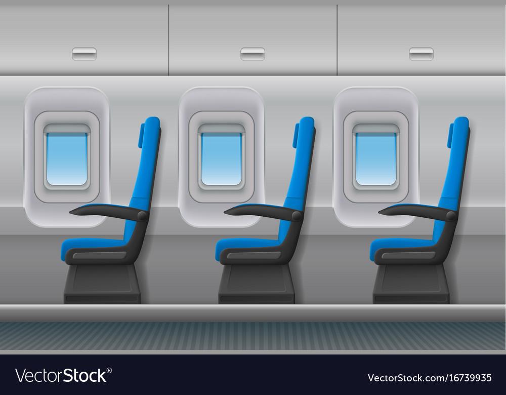 Captivating Passenger Airplane Interior Aircraft Vector Image