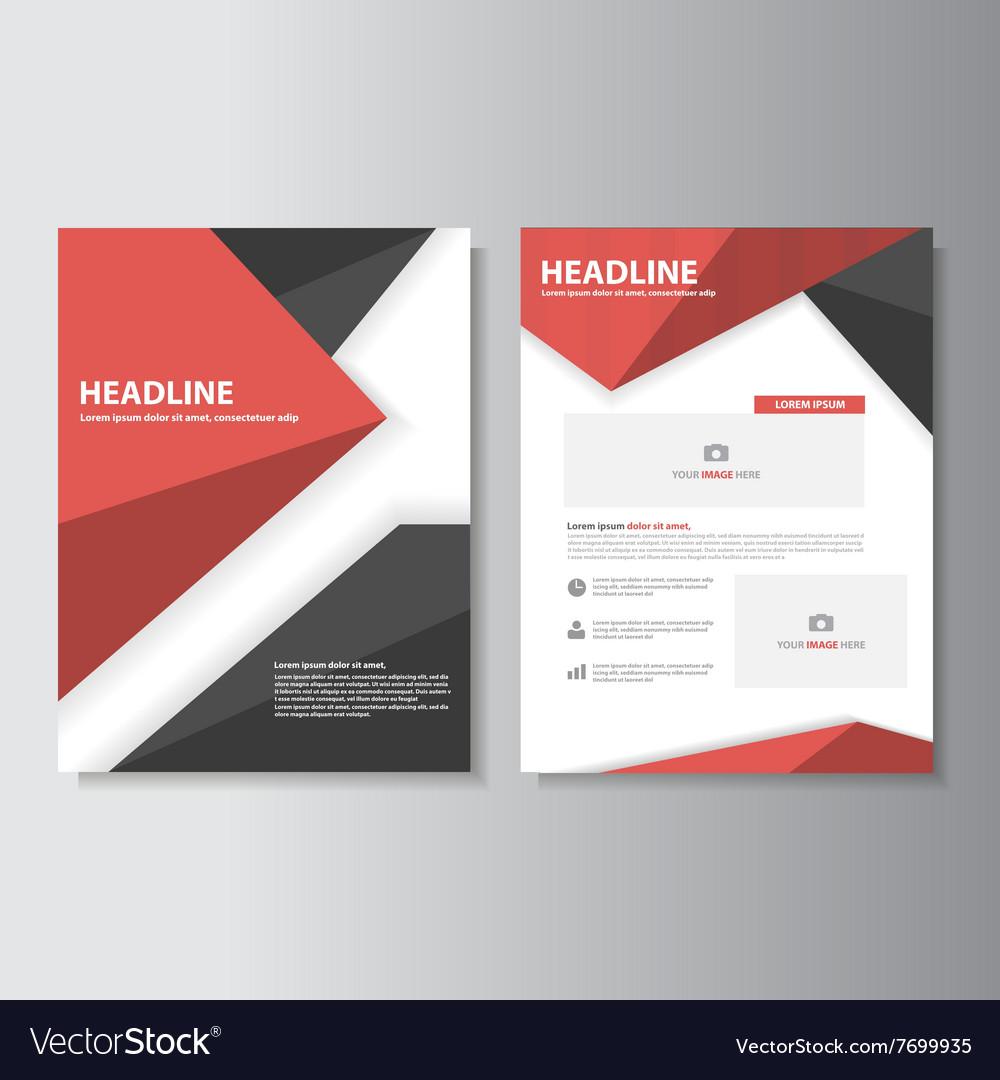 red black brochure flyer leaflet templates layout vector image