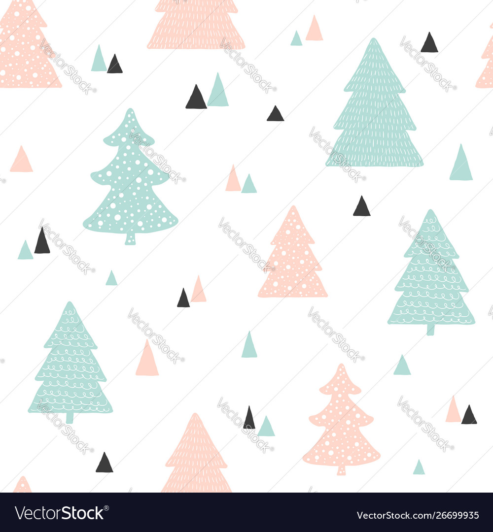 Scandinavian christmas pattern childish