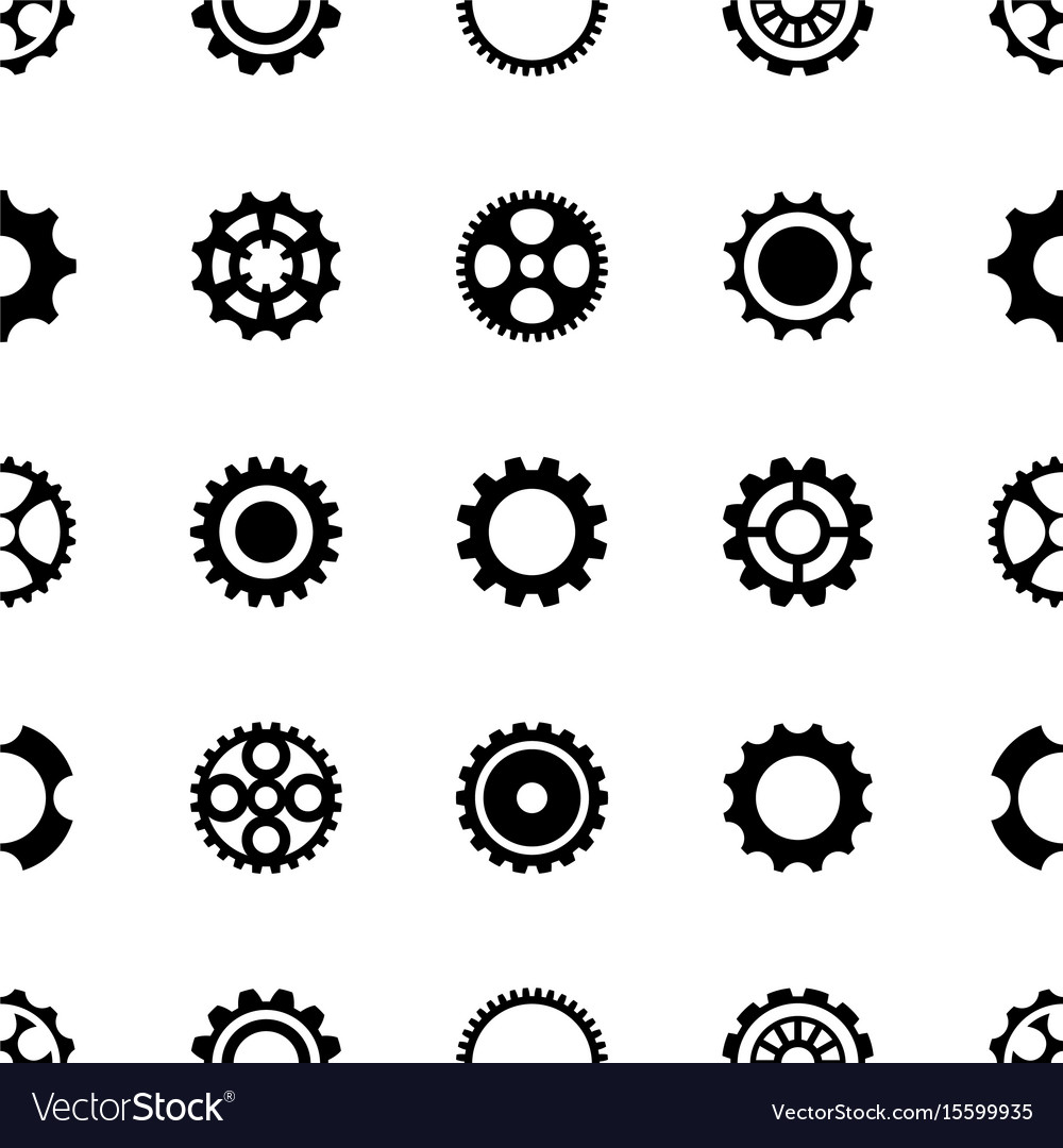 Seamless pattern different gear wheels