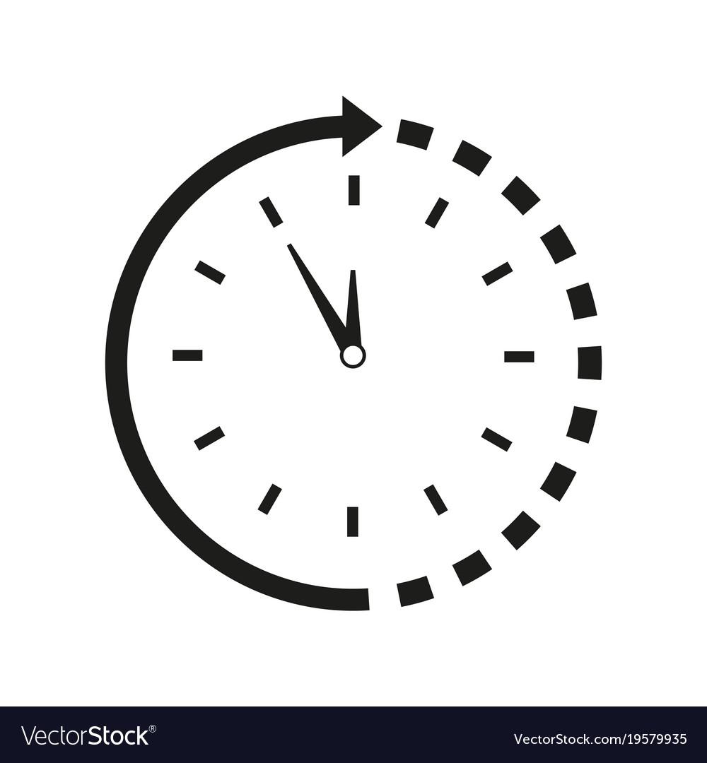 Time around clock icon