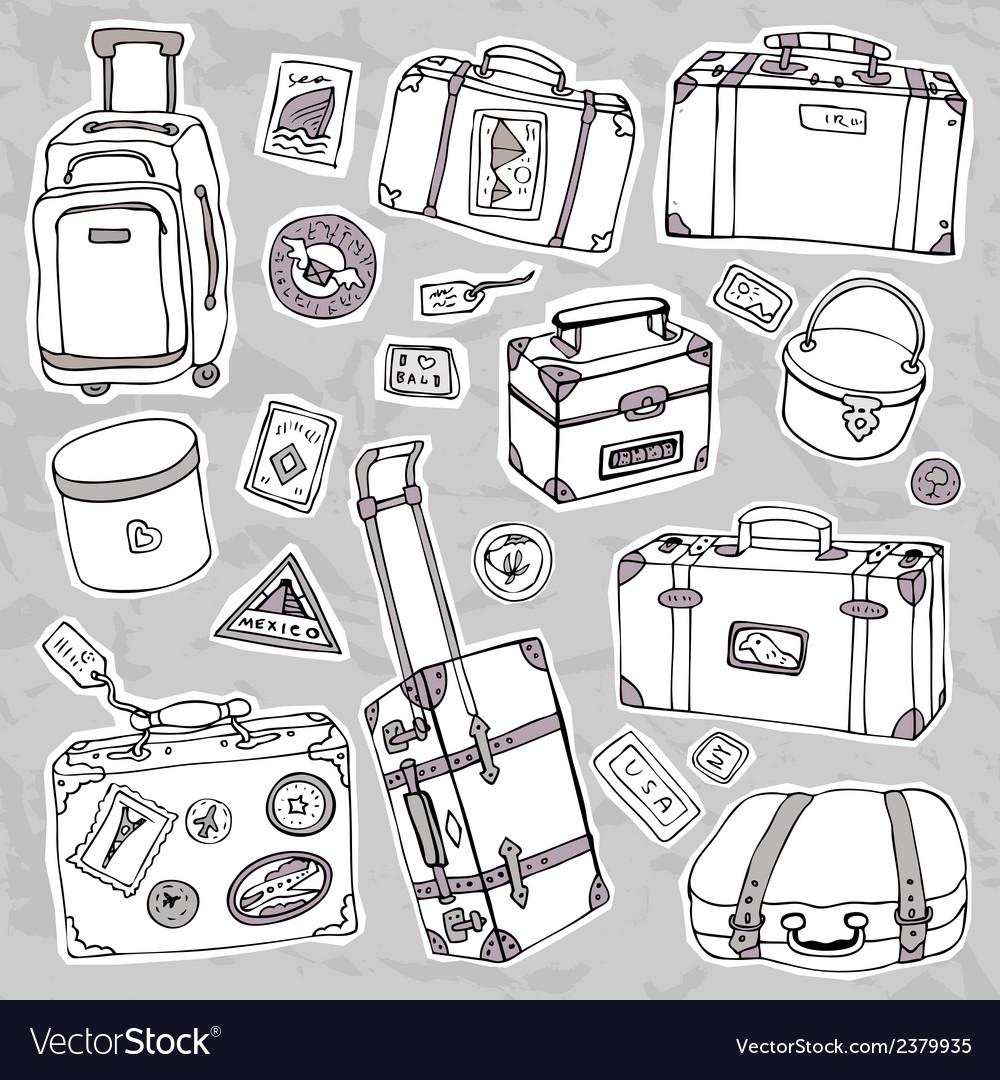 Vintage suitcases set Travel