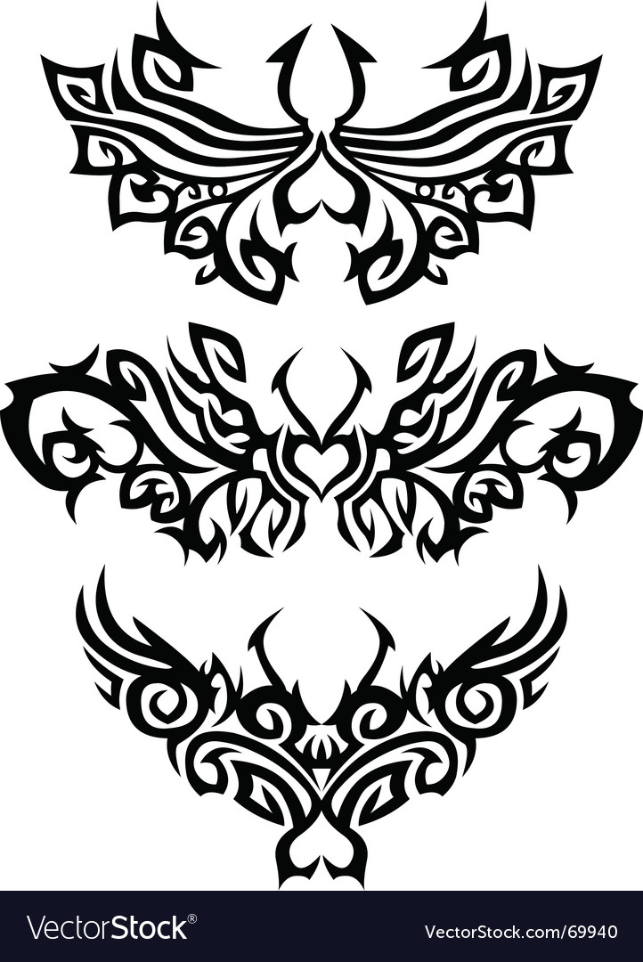 Abstract Tattoos Vector. Artist: Bastetamon; File type: Vector EPS