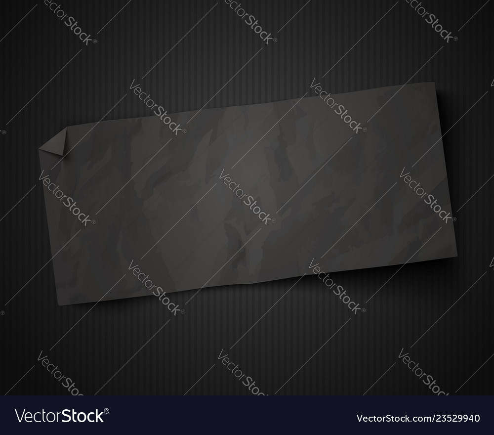 Black paper on vintage black background