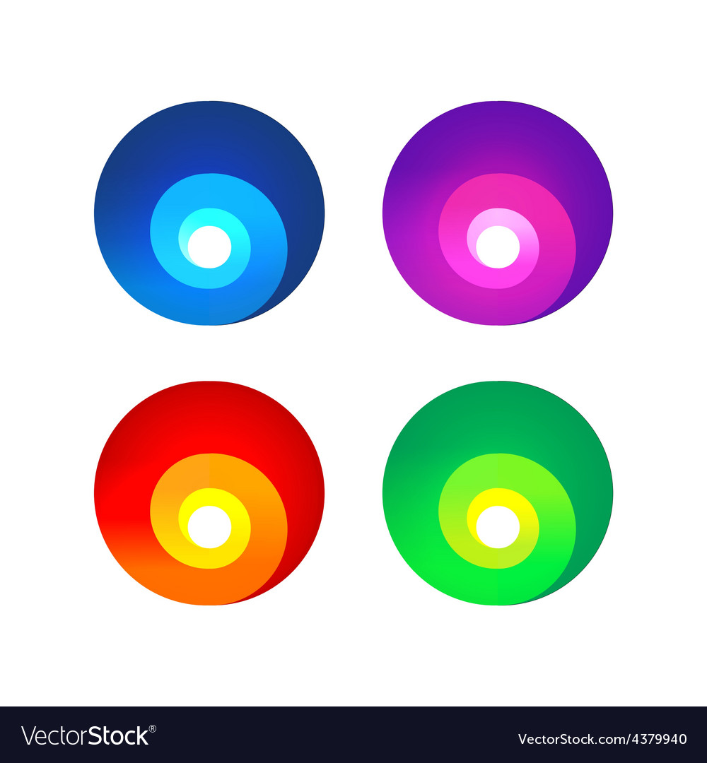 Colorful abstract spiral signs
