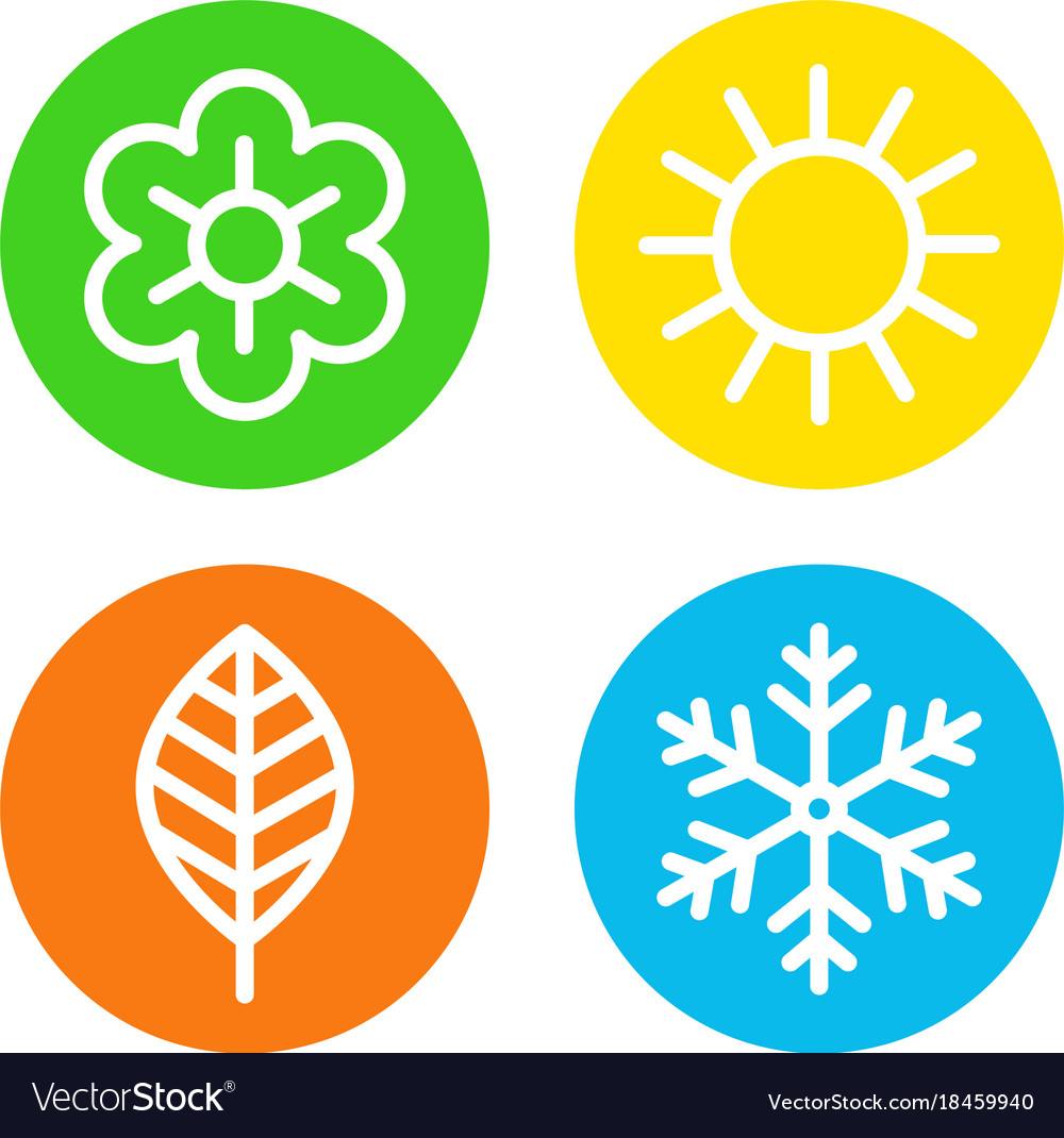 Four seasons logo set