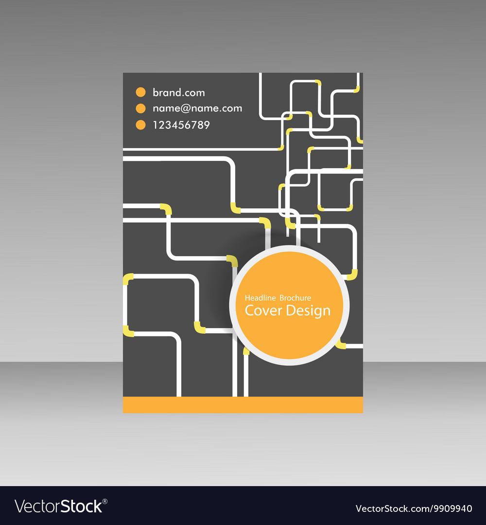 Pipe template brochure vector image on VectorStock