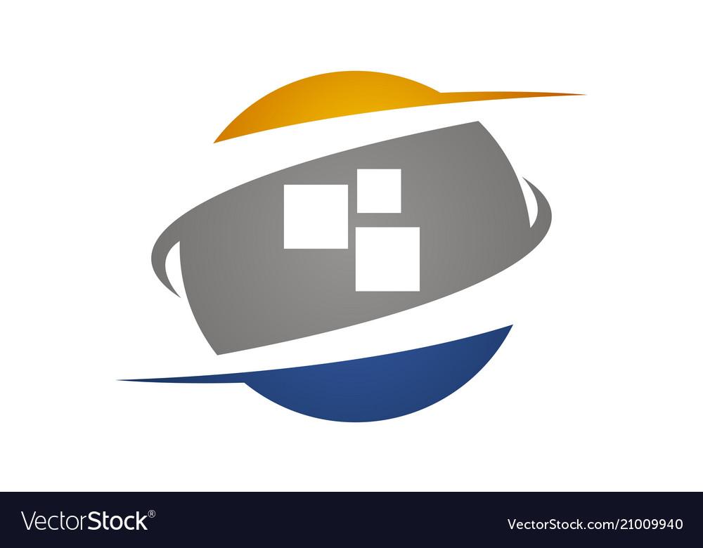 Technology transfer logo design template