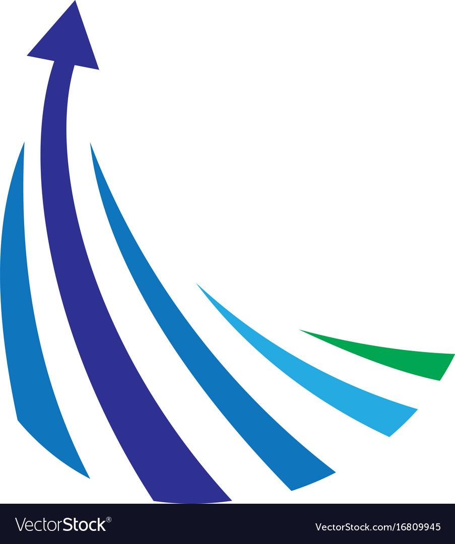 Abstract arrow line logo vector image