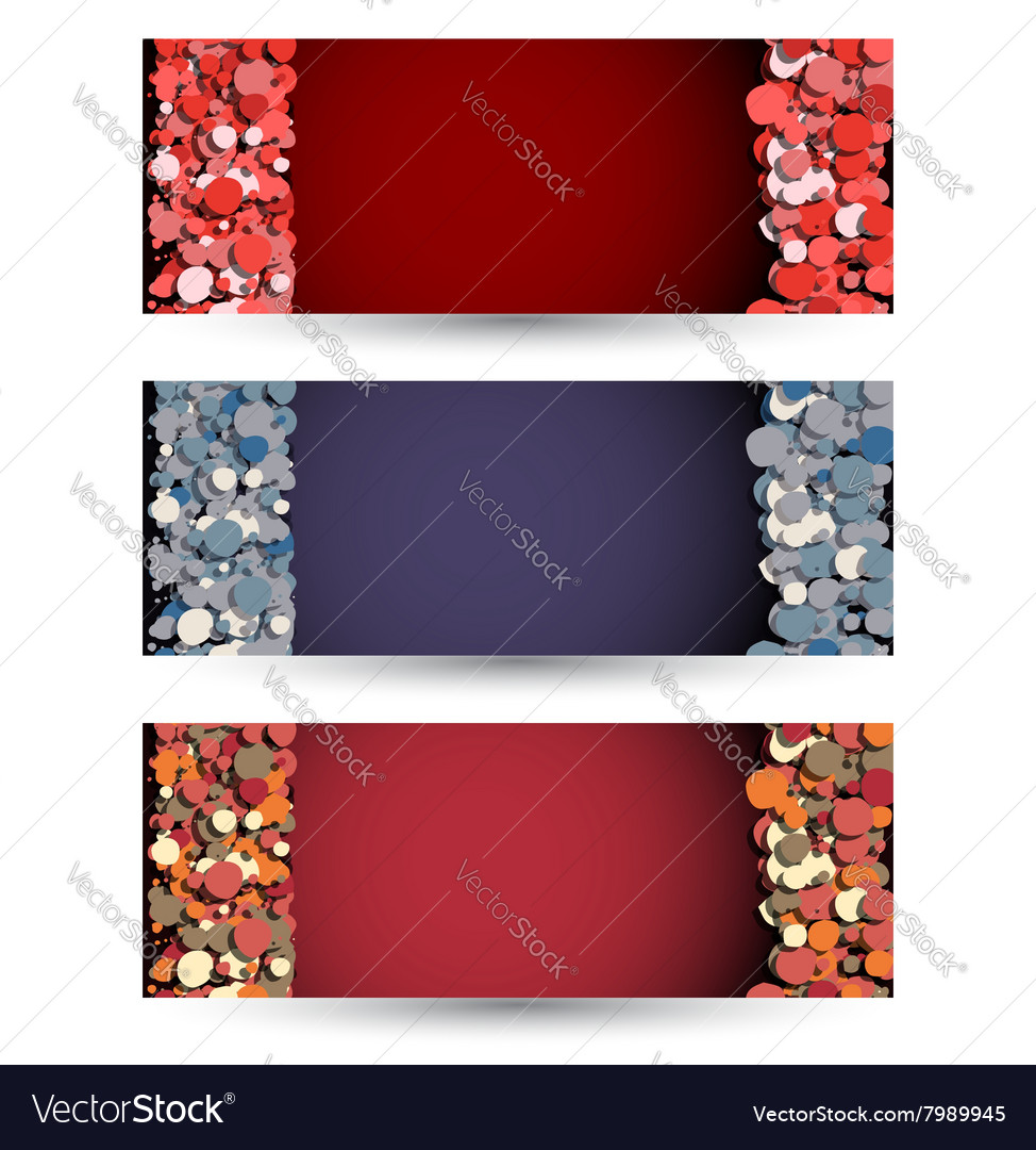Abstract bubble banners set