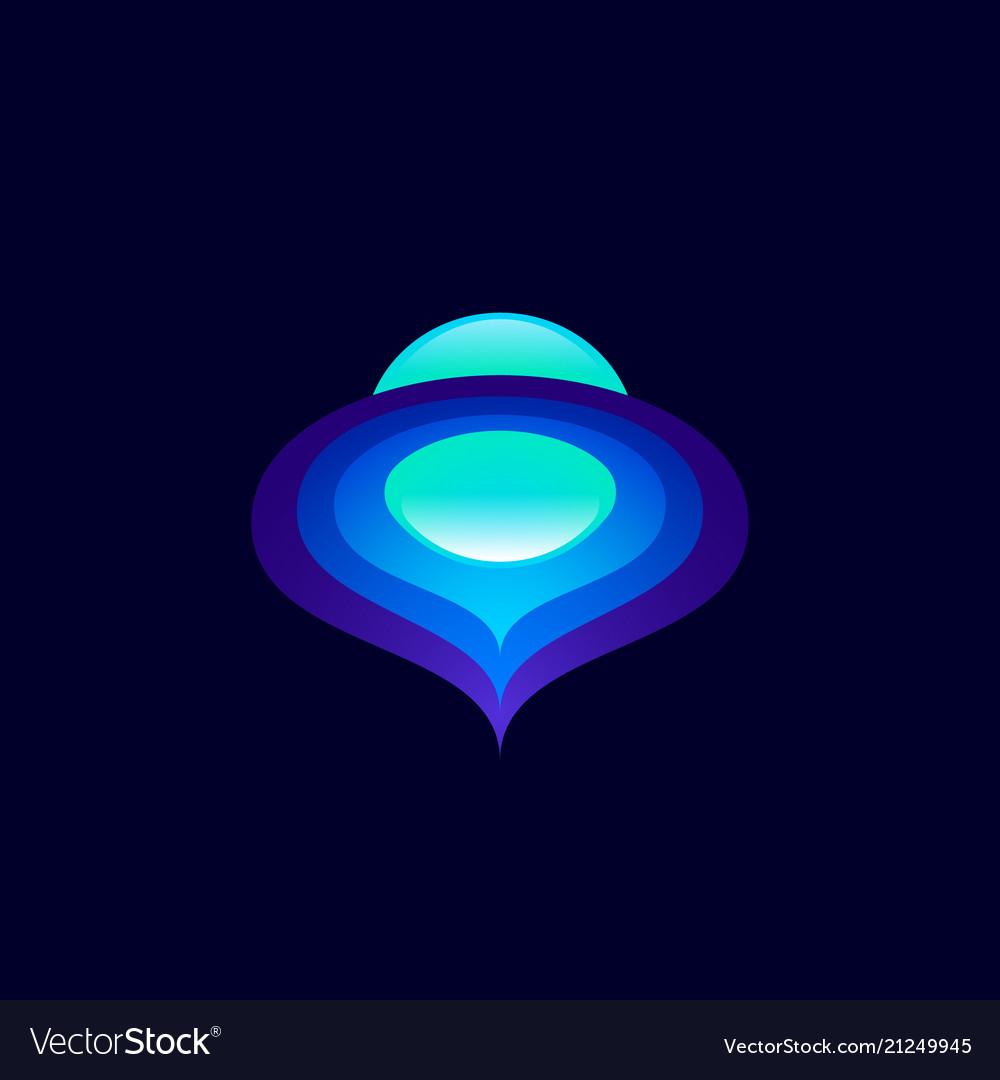 Abstract space logo color planet sphere orbits