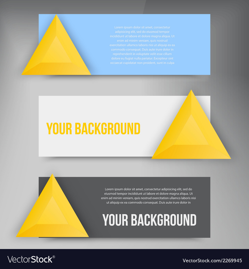 abstract triangles template object web royalty free vector