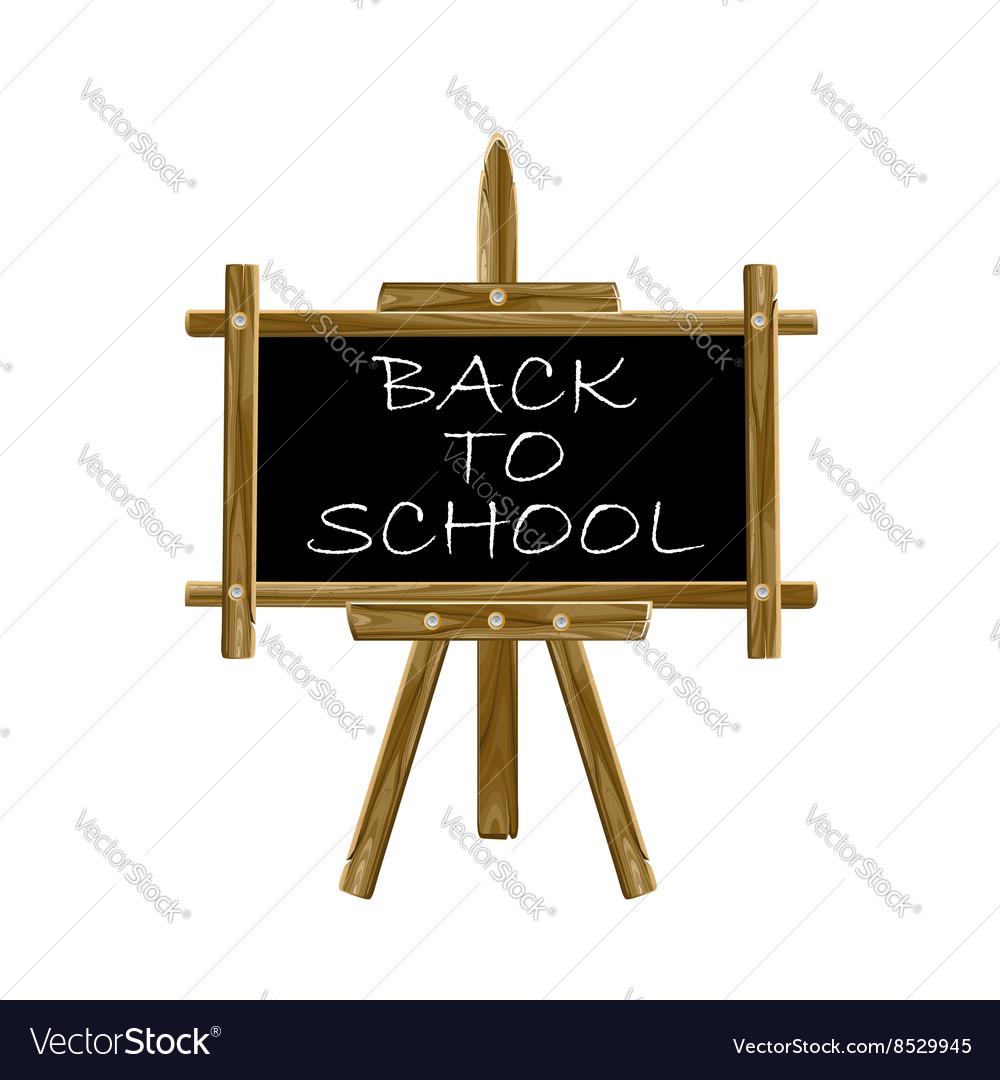 Back to school easel board vector image