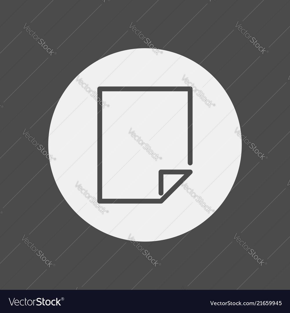 Blank page icon signy symbol