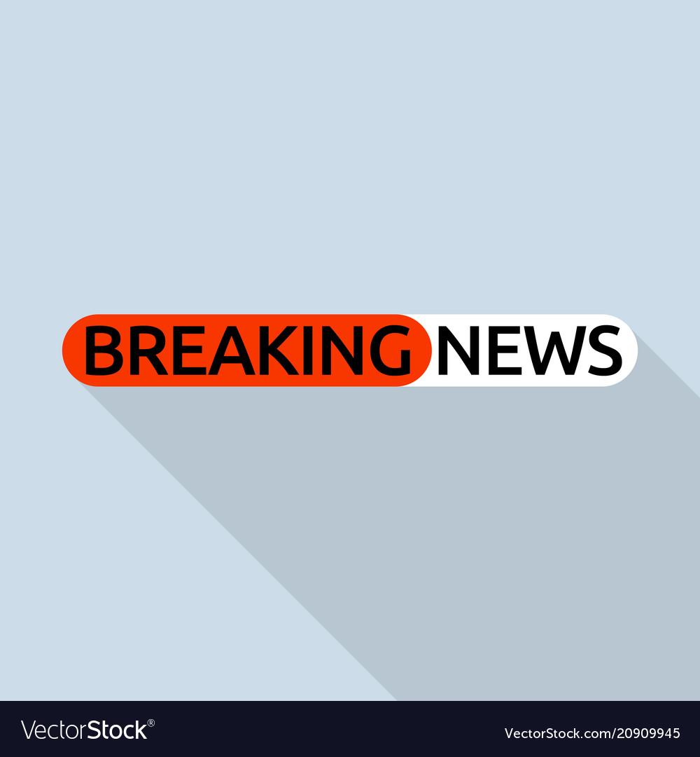 Hot breaking news logo flat style