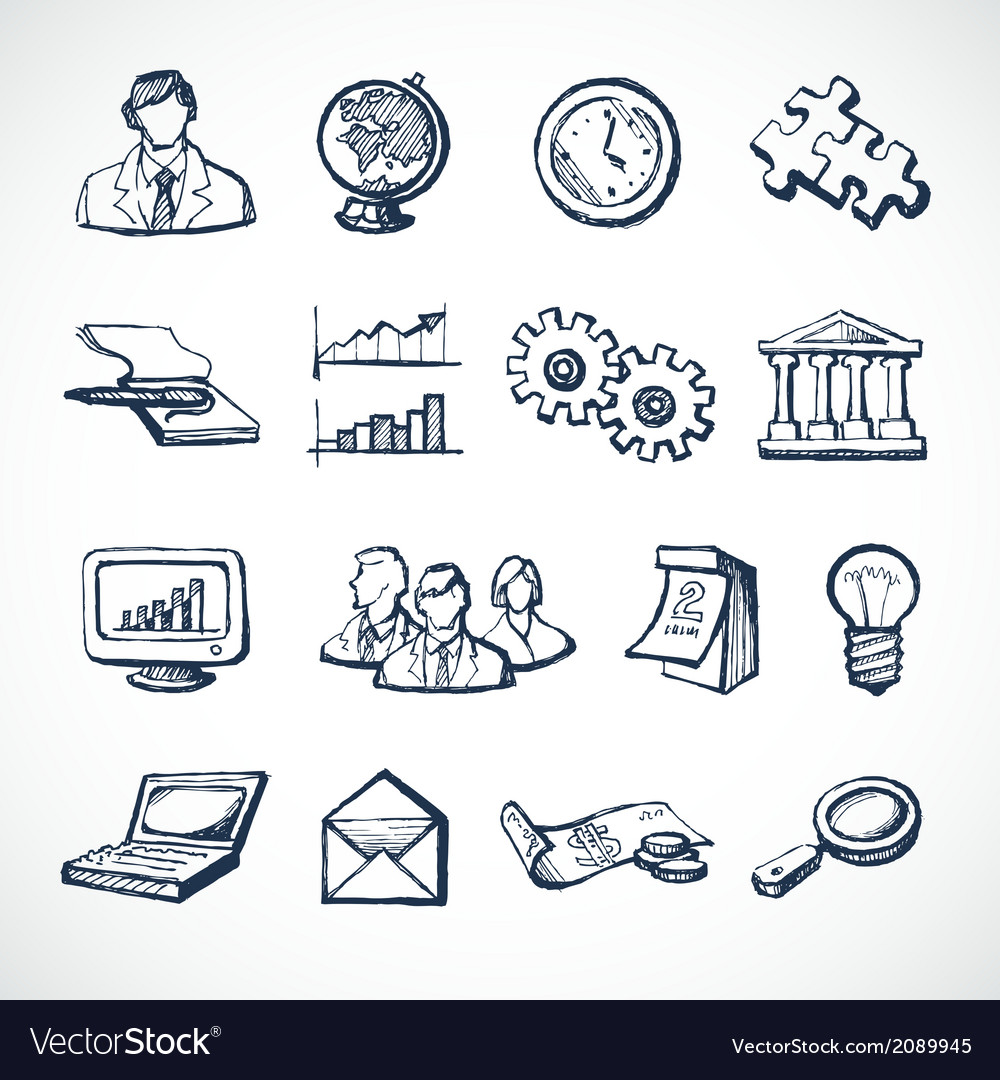 infographic sketch icons royalty free vector image