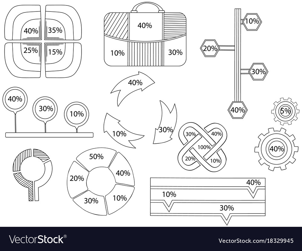 Infographics business accounting coloring