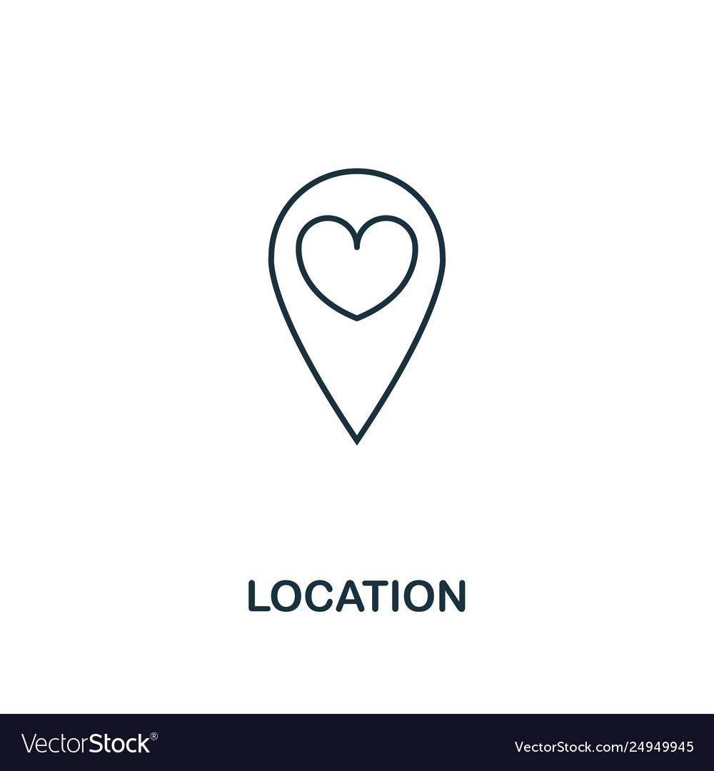 Location outline icon premium style design from