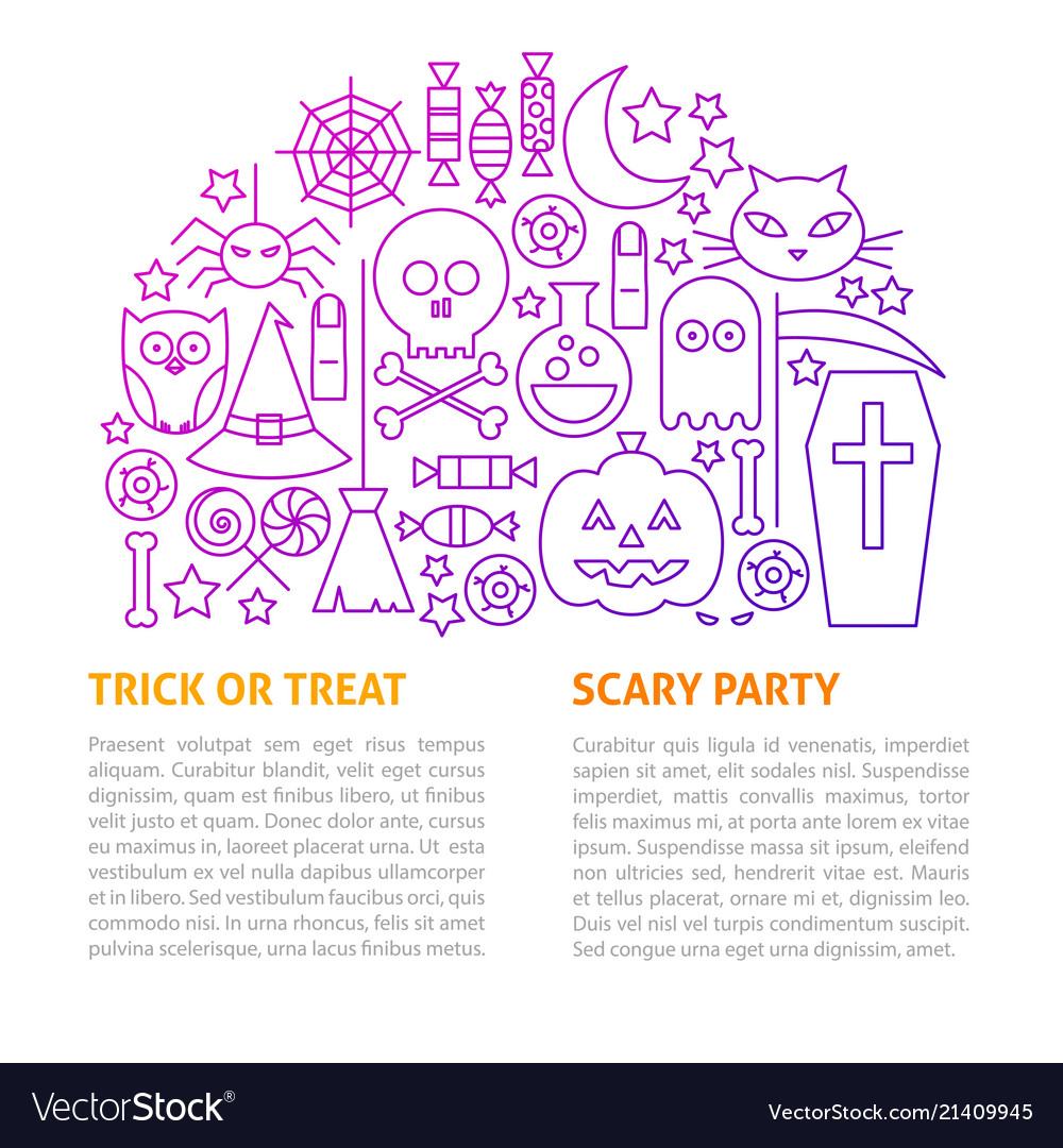 Scary party line template