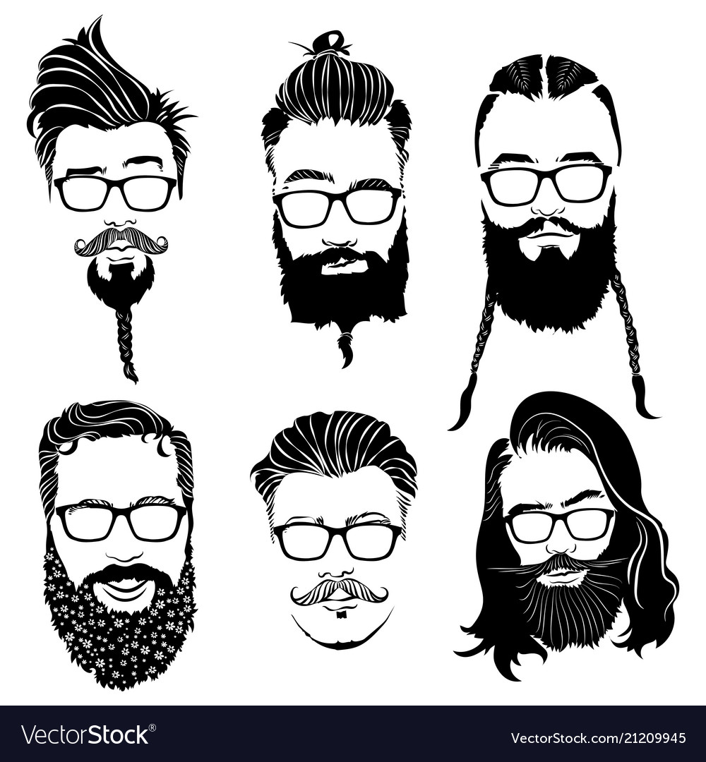 Set hairstyles for men in glasses collection