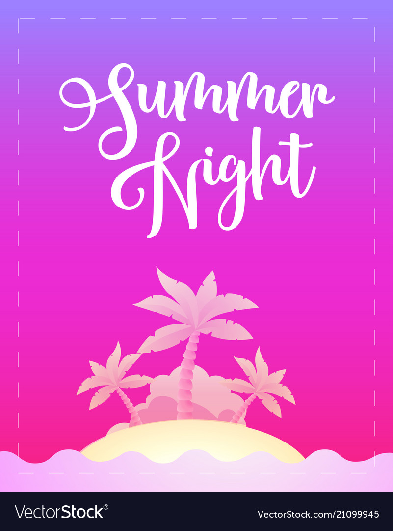 Summer night - template poster for party