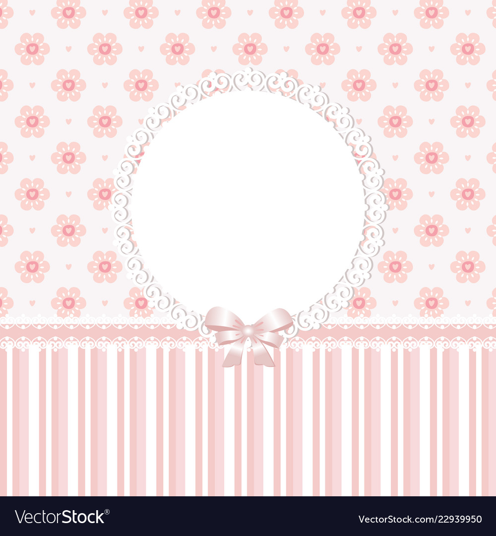 Baby Pink Floral Background Royalty Free Vector Image
