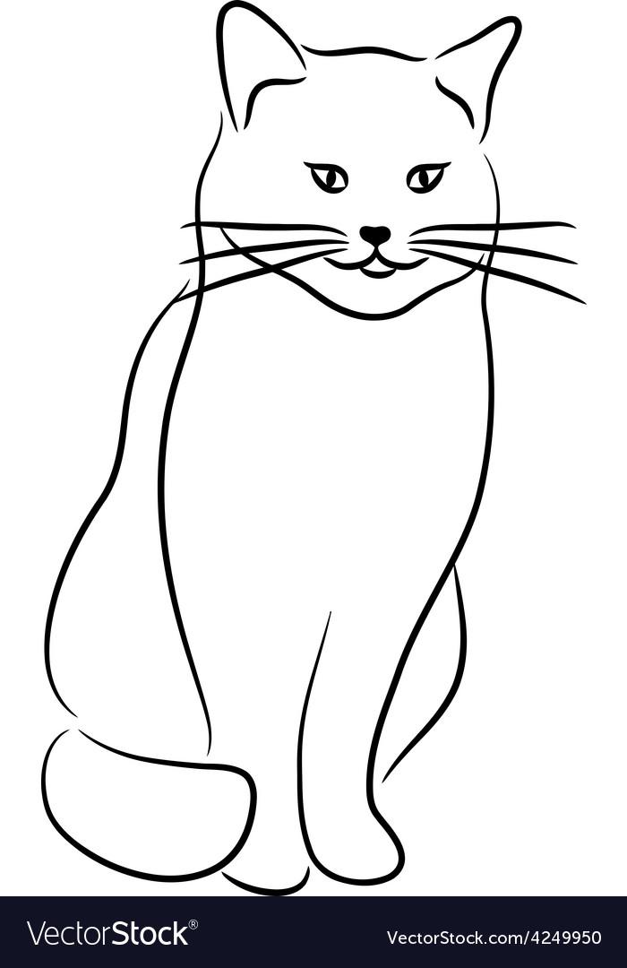 связано картинки котиков черно белые с контуром к?ндерді?