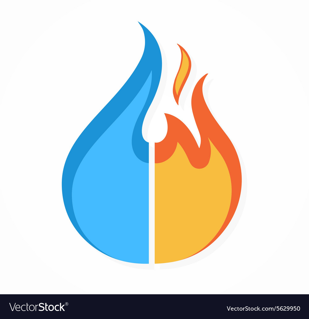 Fire and water logo or icon