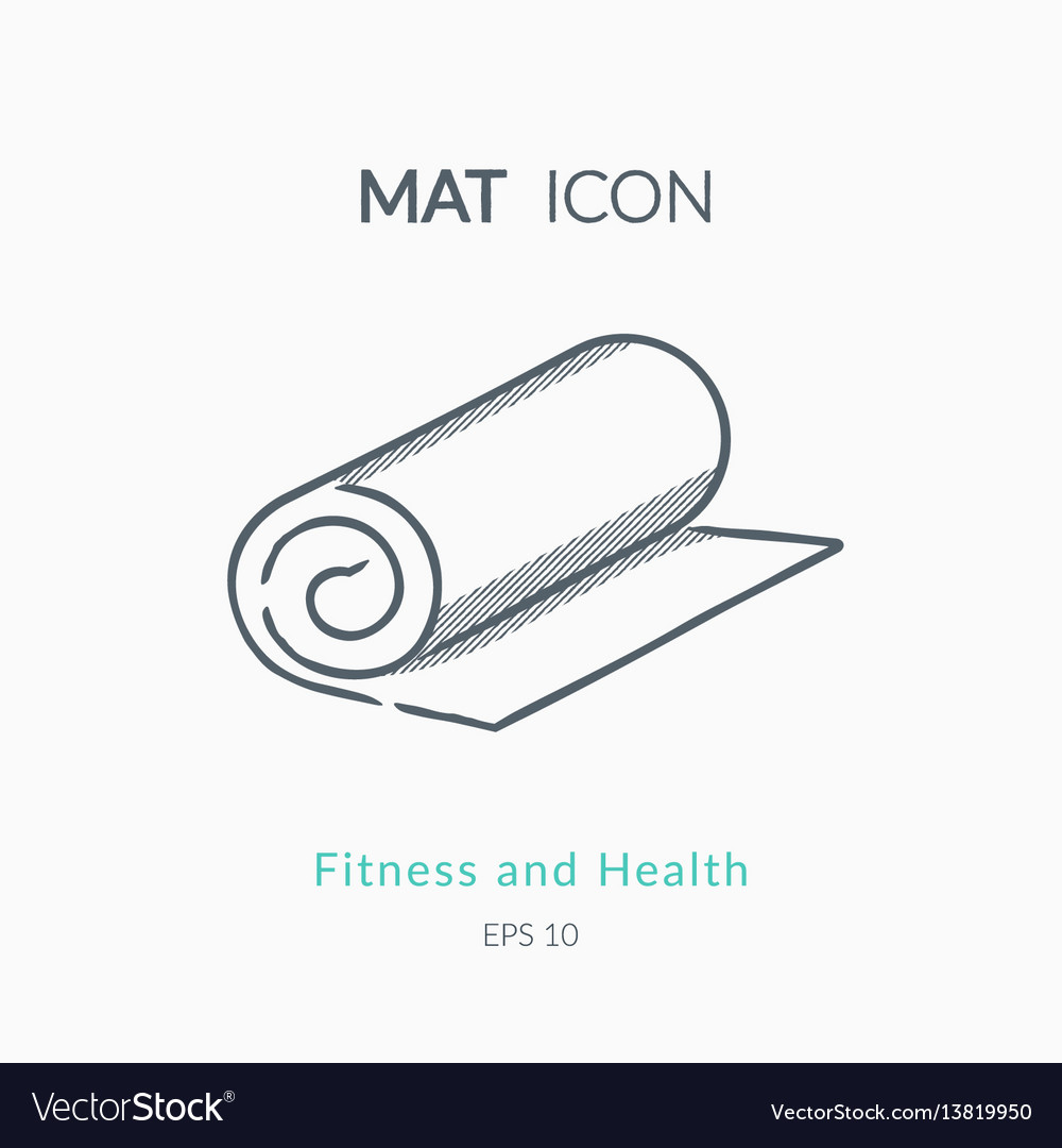 Mat icon on white background