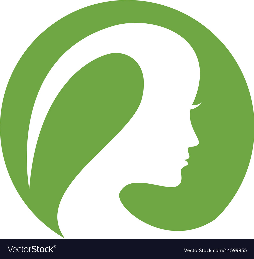 Beauty women face silhouette character logo templa vector image