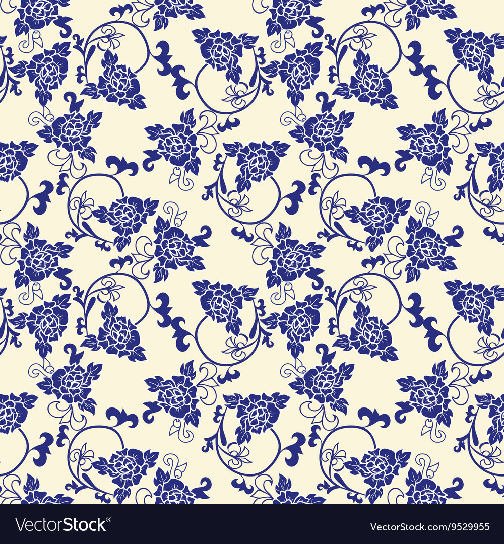 Chinese porcelain background with floral pattern