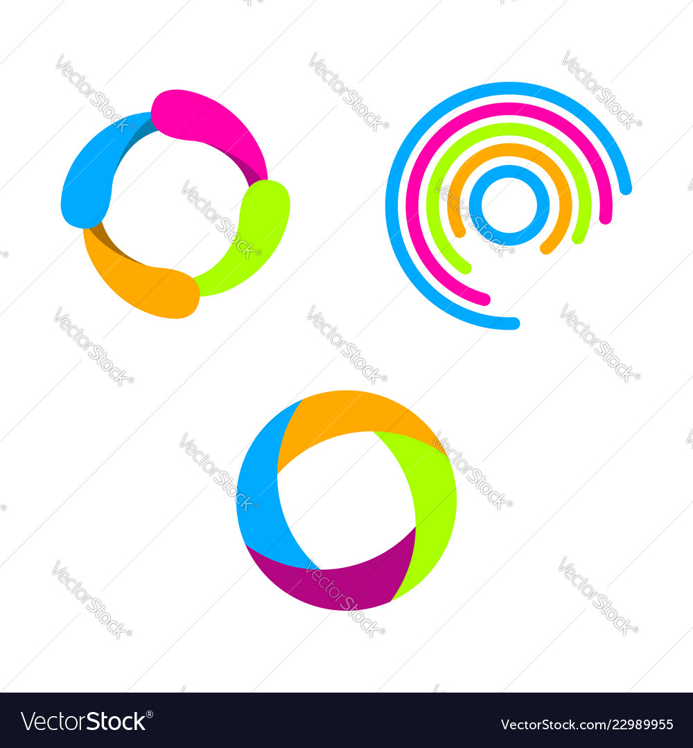 Creative circle abstract logo design