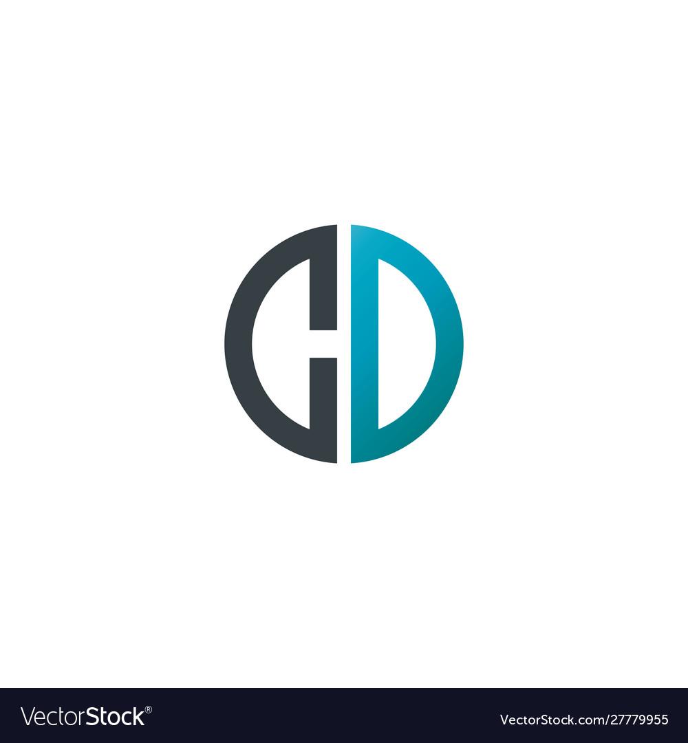 Initial letter cd creative design logo