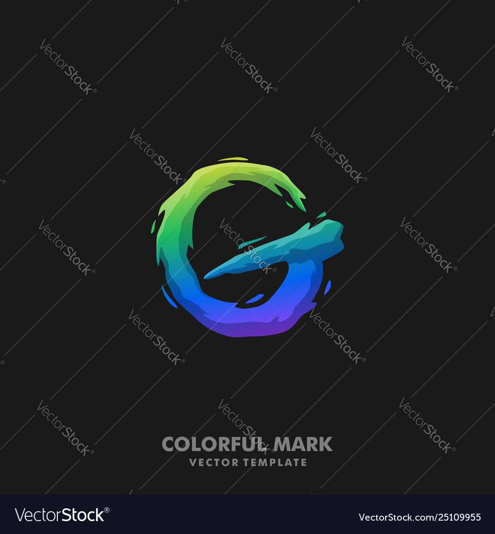 Letter g colorful template
