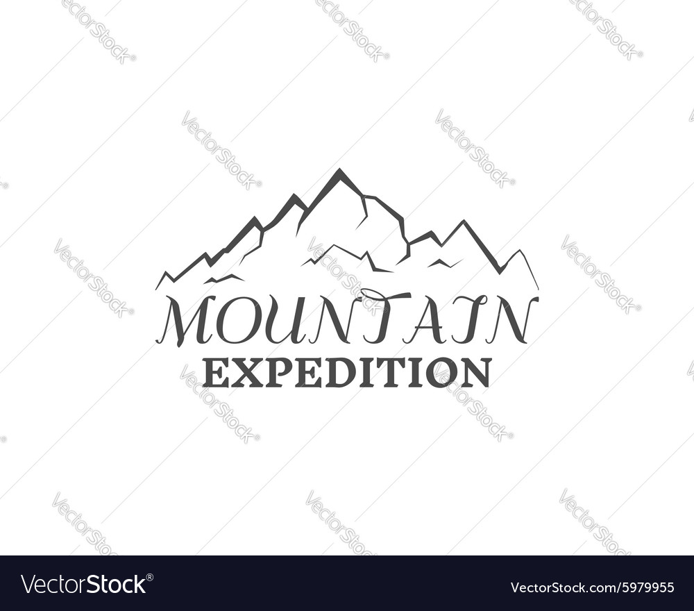 Mountain expedition badge outdoors logo emblem vector image