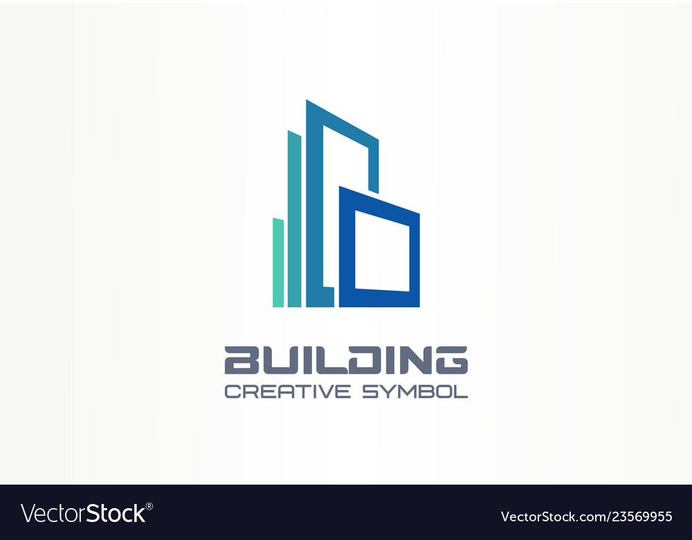 Office building creative symbol concept modern
