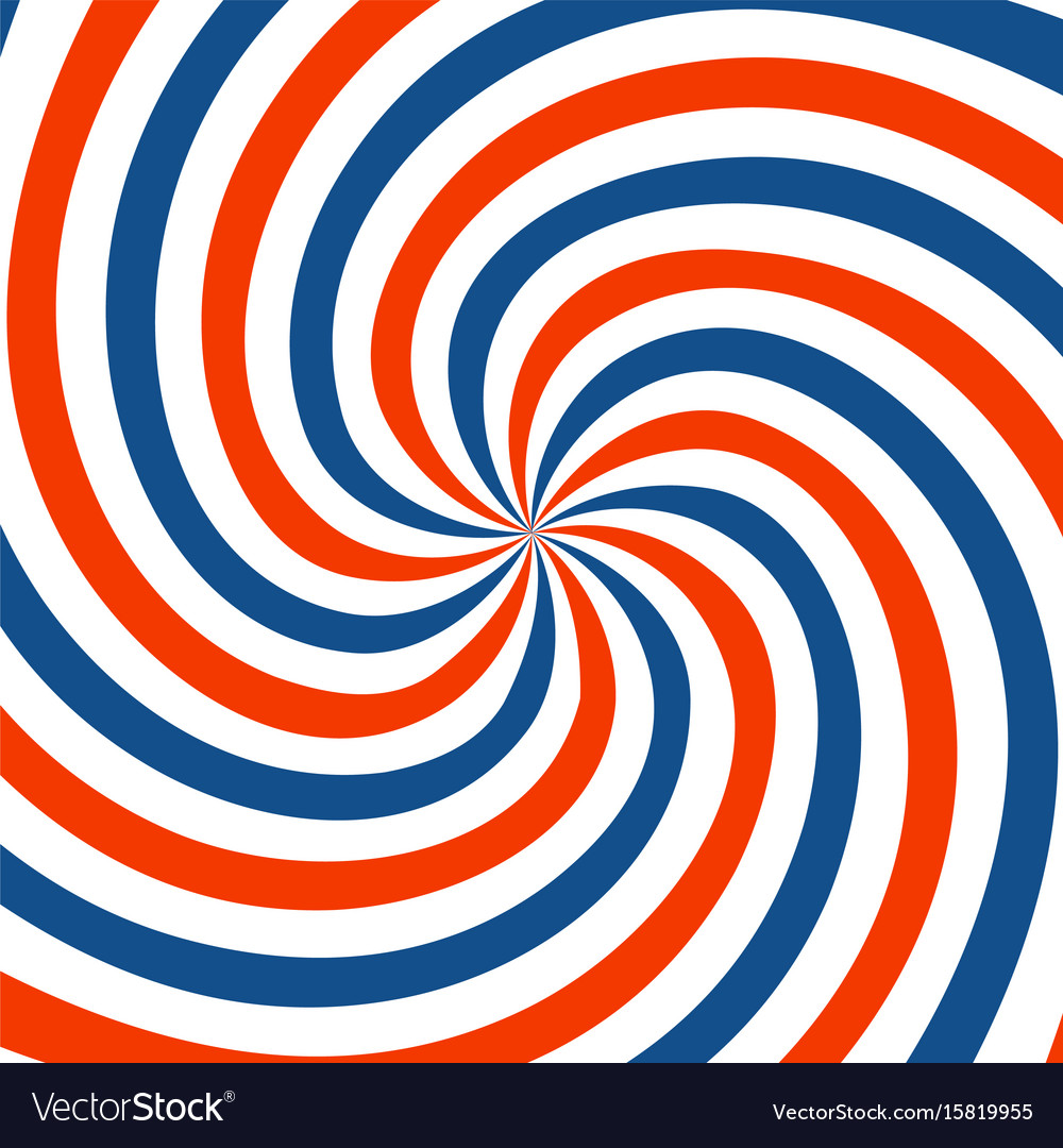 Red blue and white spiral background twirl