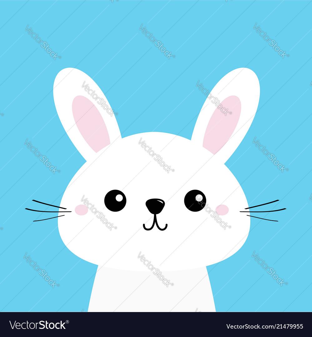 White bunny rabbit cute kawaii cartoon character