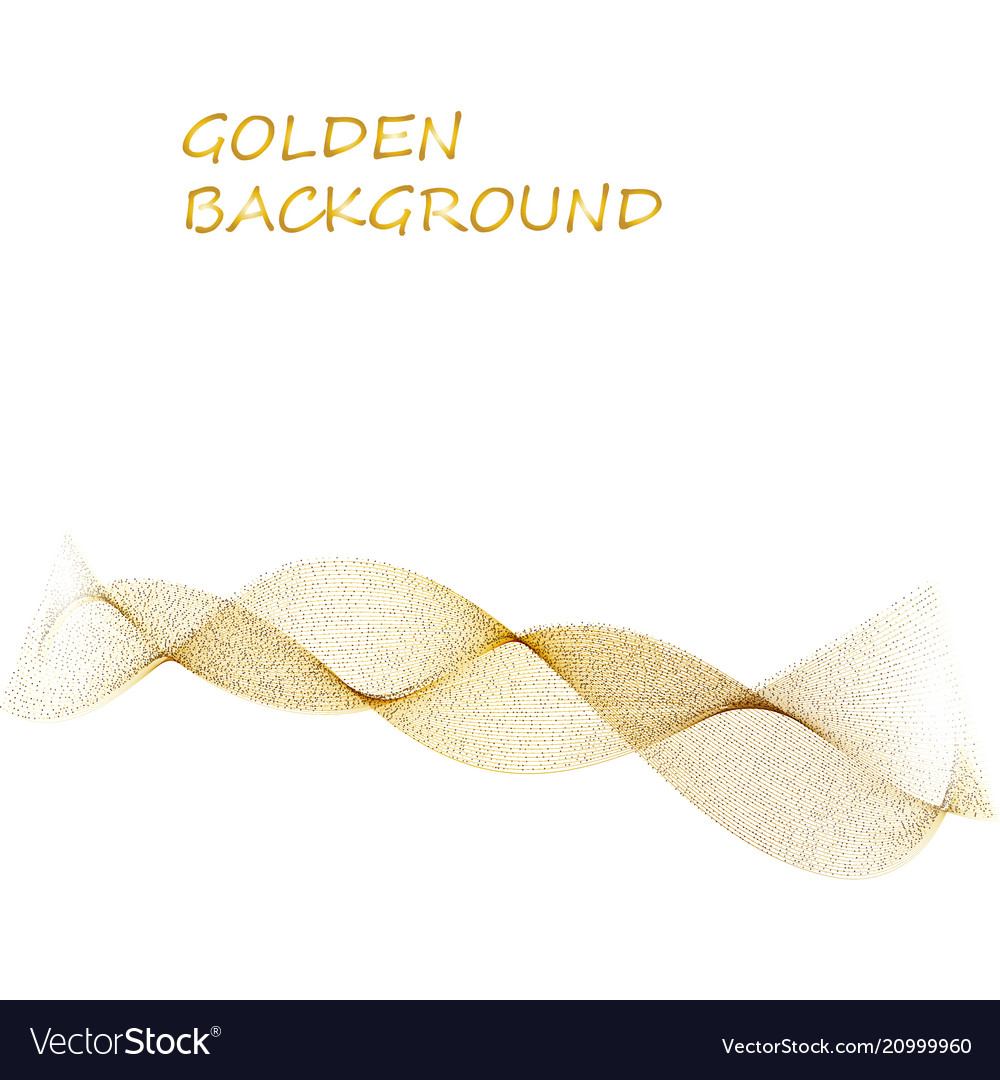Abstract beige line golden wave yellow band on