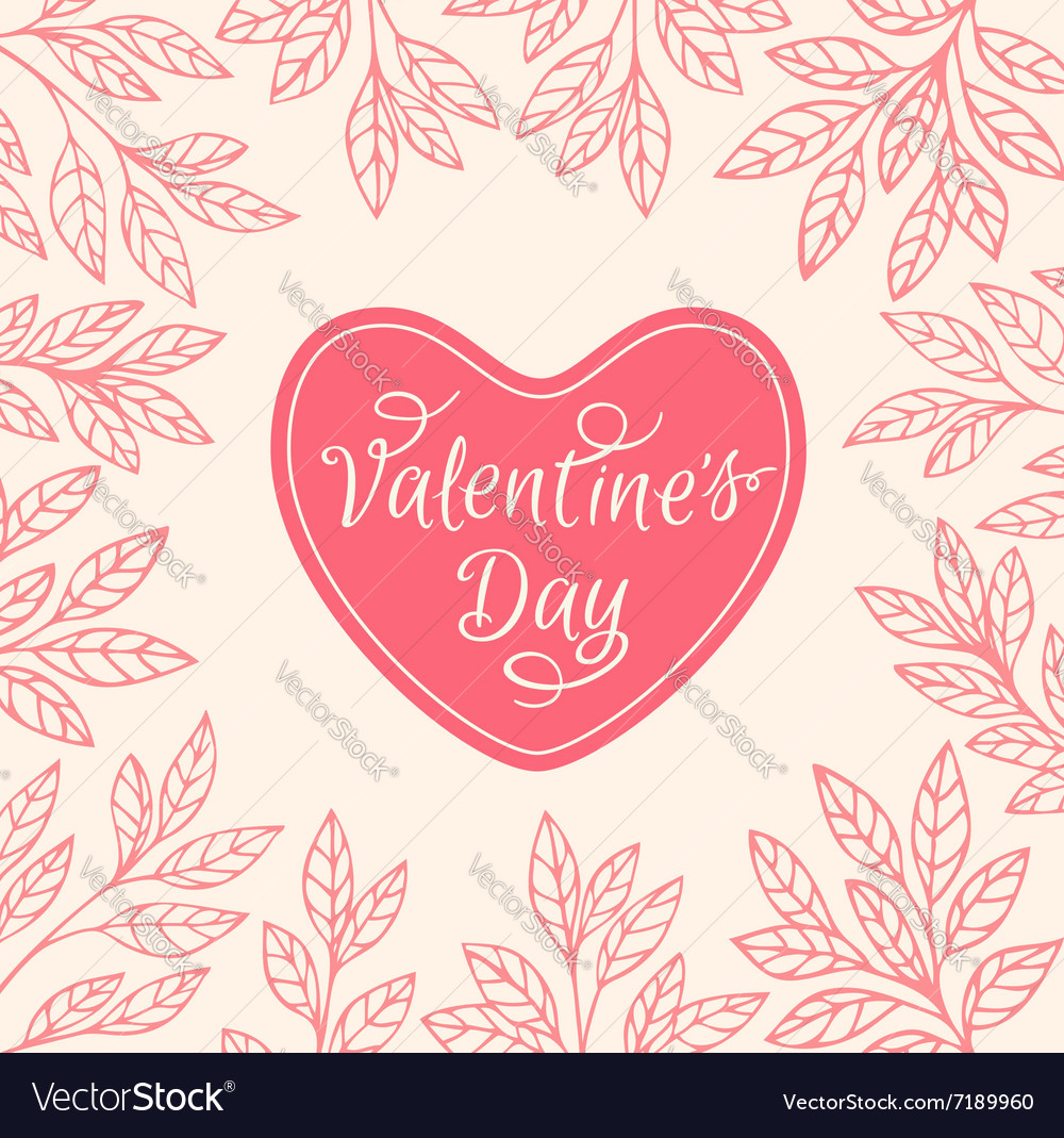 Decorative floral background with heart