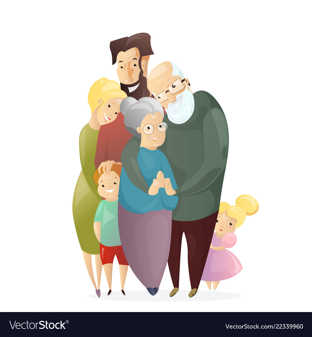 Happy family father
