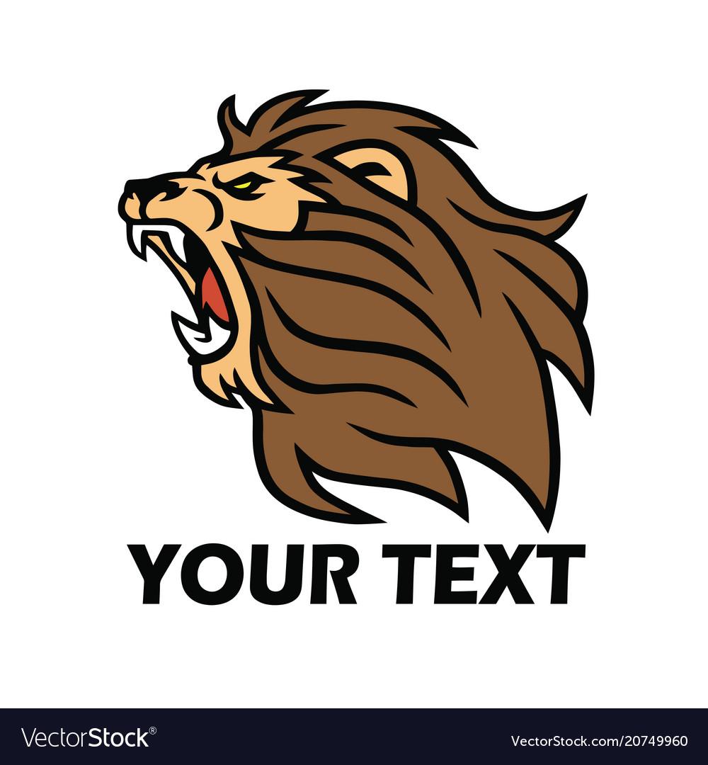 Lion logo template roaring beast