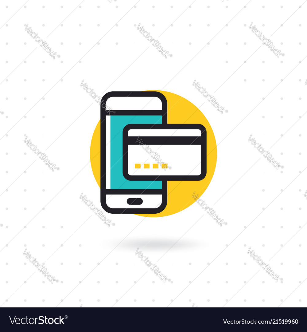 Mobile payment flat icon
